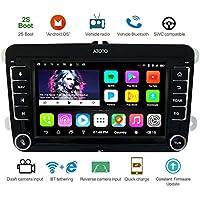 ATOTO A6 Android Auto Navigation Stereo w/Dual Bluetooth & Schnellladung - Für Volkswagen/VW - Premium A6YVW710PB 1G + 16G Indash Unterhaltung Multimedia Radio, WiFi/BT Tethering Internet