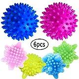 Wäscherei Ball - WENTS Trocknerbälle 6PCS Laundry Ball Washing Ball Solid bunte Maschine Waschen Ball Kunststoff Trockner Bälle
