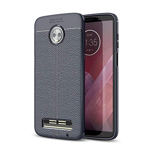 3f71cc91261 SsHhUu Funda Moto Z3 Play, TPU Patrón de Textura de PU Cuero Protector de  Silicona