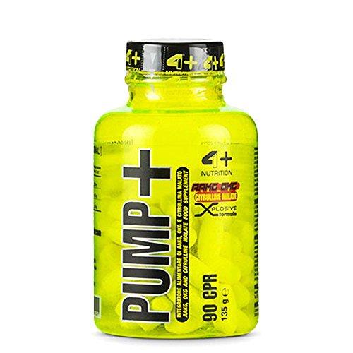 PUMP+ [90 CPR] 4+ NUTRITION - integratore di AAKG, OKG e citrullina malato