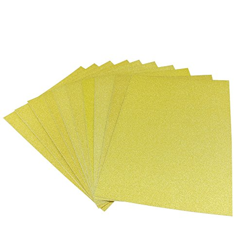 zend Karte Lager 10Blatt A4selbstklebende Edelstein Glitzer Metallic Art Schild Vinyl Aufkleber Sticky Papier gold ()