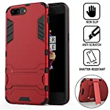 Wineecy OnePlus 5 Case, 2 in 1 Iron Armour Tough Style
