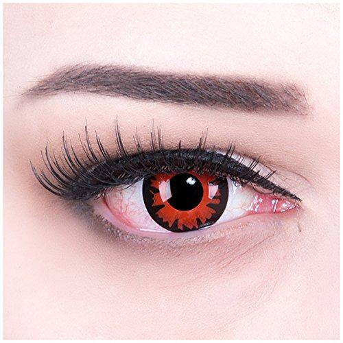 Meralens Dämon Kontaktlinsen mit Pflegemittel ohne Stärke (Augen Des Himmels Kostüme)