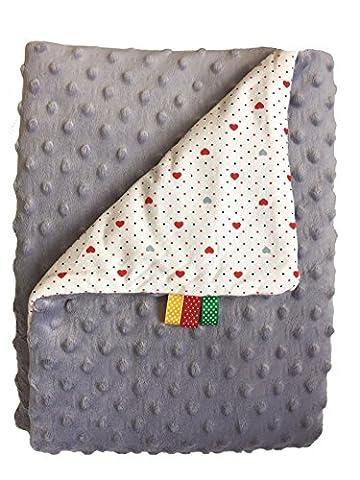 Babydecke Minky Baumwolle Weiche Plaid flauschiges Fleece kuschelige doppelseitig 75x 100(G/b-6)