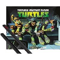 Póster + Soporte: Las Tortugas Ninja Póster Mini (50x40 cm) Noche De Pizza Y 1 Lote De 2 Varillas Negras 1art1®