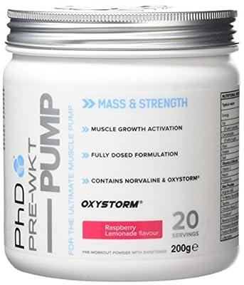 PhD Nutrition Pre-Workout Supplement Pump, Raspberry Lemonade by PhD Nutrition