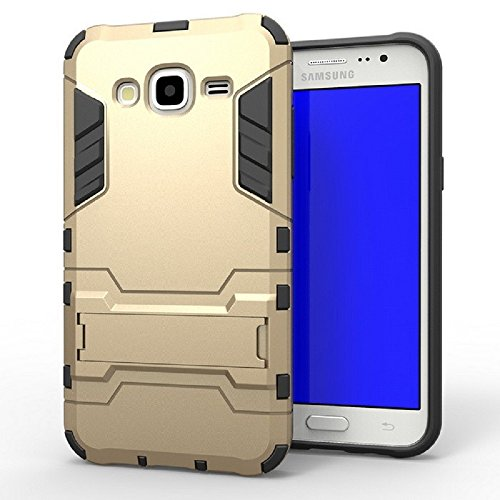 Heartly IronMan09-Gold Graphic Designed Stand Hard Dual Rugged Armor Hybrid Bumper Back Case Cover For Samsung Galaxy J7 SM-J700F 2015 – Mobile Gold