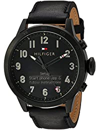Tommy Hilfiger Hombres de TH 24/7 DE Cuarzo Resina y Piel Reloj Inteligente