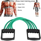 Brand Conquer 5 Tube Adjustable Chest Expander Unbreakable Latex Tube