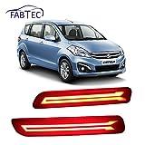 Fabtec Imported Premium Quality Car Neon Rear Bumper Back Tail Reflector Brake DRL For Maruti Ertiga