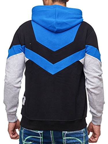 19044v2 Kapuzenpullover Kapuze Pullover Hoodie Sweatshirt Rot Sax Grau Schwarz Sax