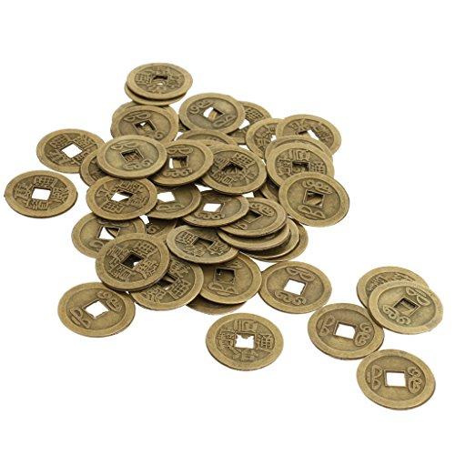 faf75e9ed4 MagiDeal 50 Pezzi Moneta Cinese Antica in Lega di Zinco di Fortune Feng  Shui I-