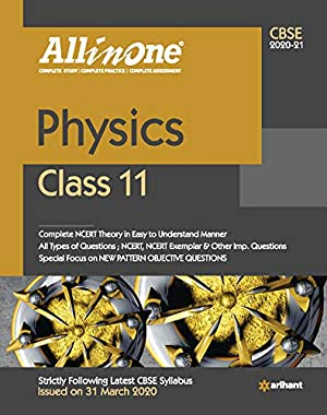 CBSE All in One Physics Class 11 for 2021 Exam