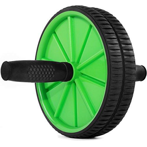 Fitfiu - Ab Wheel G Rueda de abdominales, color verde