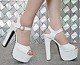 XiaoGao sommer 15 cm high heel - toed sandalen,weiße rinde