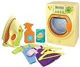 Red Box 22800 - Deluxe Washing Set, Waschmaschine mit Waschgeräuschen, Bügeleisen, 2 Kleiderbügel, Kleidung und Waschpulver