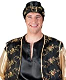 Kostüm Orientale Schakir Größe 48/50 Herren Schwarz Gold Orient Märchen Karneval Fasching Pierros