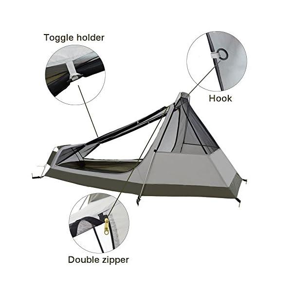 Camping UV Block Black  36 inch Zipper Marine