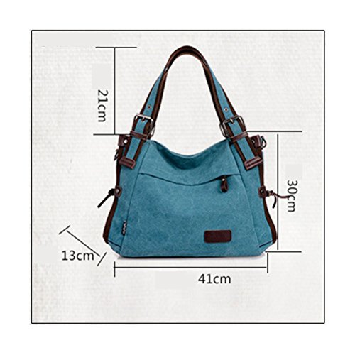 Zhhlaixing Borse di moda Classic Retro Canvas Large Package Characteristic Handbags Zipper Shoulder Bags for Women Army Green