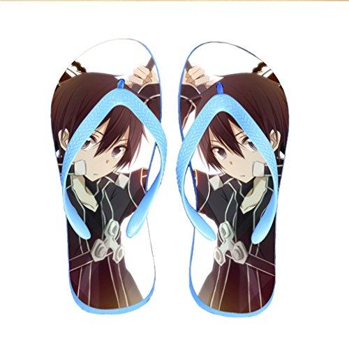 Bromeo Sword Art Online Anime Unisex Flip Flops Zehentrenner Flip Pantoffeln 135