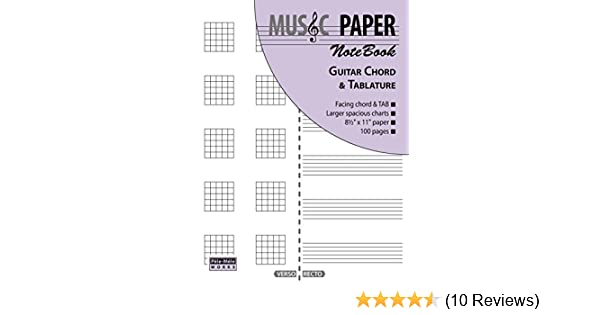Music Paper Notebook Guitar Chord Tablature Amazon
