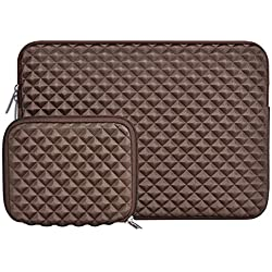 MOSISO Housse Compatible avec 13-13,3 Pouces MacBook Pro, MacBook Air, Notebook Tablet, Anti-Chocs Néoprène Hydrofuge Laptop Sleeve avec Petite Pochette, Café Marron