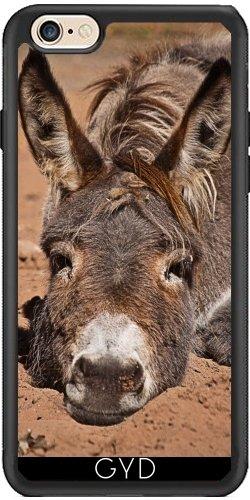 Leder Flip Case Tasche Hülle für Apple iPhone 6/6S - Unten Esel by PINO Silicone