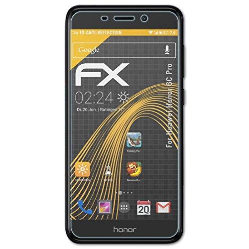 atFolix Panzerfolie kompatibel mit Huawei Honor 6C Pro Schutzfolie, entspiegelnde und stoßdämpfende FX Folie (3X)
