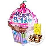 Riesenballon HB Cupcake und belgische Pralinen