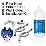 Brita under-sink water filter installation kit: Filter cartridge Brita P1000, filter head, hoses