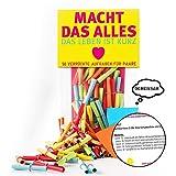 Monsterzeug Verlosungsspiel für Pärchen, 50 Textlose mit Aufgaben für Paare, Lostüte mit Herausforderungen für Verliebte, Papierlose mit Challenges, 50 Stück