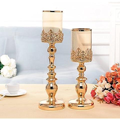 Continental vetro ferro portacandele tabella decorazioni creative Home candelabro