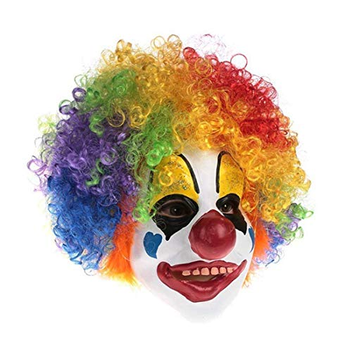 Rolexes Clock Shop Bunte Haar-Clown-Maske, Cosplay scherzt erwachsenes Halloween-Clown-Masken-Kostüm