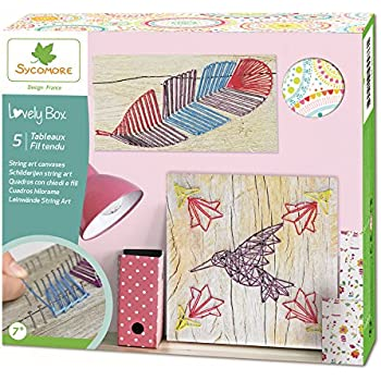 Sycomore CRE5050 - Loisirs Créatifs - Tableaux String Art - Lovely Box