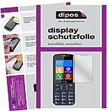 dipos I 2X Schutzfolie klar passend für bea-fon SL820 Folie Displayschutzfolie