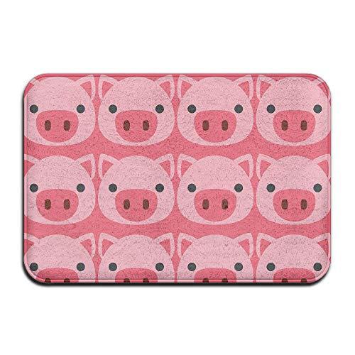 Babo Schweine-Emoji-Fußmatten Eingangs-Teppich Fußmatten Fußmatten Fußmatte 39,9 x 59,9 cm, Gummi, Pig Face1, 16x24(IN)/40x60 cm
