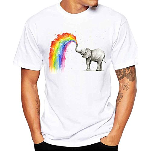 VECDY Herren T Shirts Mode Tops Plus Size Kurzarm Einfaches Pullover Brief Drucken Oberteile Slim Fit Shirt S-4XL