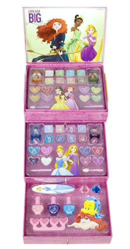 Make Up Für Kinder Set (Markwins Disney Princess  / Prinzessinnen: Geschenk-Set, Kosmetik Kollektion, Make Up, Lidschatten, Nagellack, 1er Pack (1 x 1)