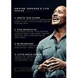 Printelligent Posters Original Quotes Decorative Dwayne Johnson Poster With Size Of News Paper Size 14 Inch X 26 Inch And Great Designs High Quality Matte Finish 32 Micron Lamination Thick 300 Gsm Imported Paper Multi Colour Digital HD Printing Home And O