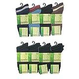 Bamboo Herren Socken Weich Komfortabel Baumwollmischung für Arbeit Büro Jeden Tag (12 Paar) - Schwarz, 40-46