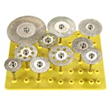 JTENG 10 PCS Kreissägeblätter dremel Diamant Lochsäge Cut Off Discs Radlager Werkzeug Set Klingen Rotary Tool Set