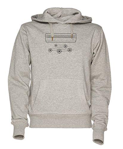 Luft Anlage Unisex Grau Sweatshirt Kapuzenpullover Herren Damen Größe XXL