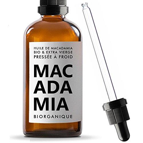 Huile de Macadamia 100% Bio, Pure et Naturelle - 100 ml - Soin pour Corps, Peau,...