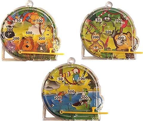 Jungle Animaux Pinball Mini (Pack de 12)
