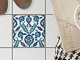 creatisto Fliesendeko, Badezimmer-Fußboden-Fliesen | Fliesentattoo Küche Bad Fliesenmotiv Badezimmerdeko | 20x20 cm Muster Ornament Hamam-Vibes - 1 Stück