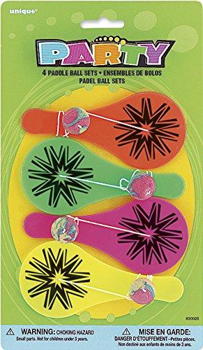 s Paddleball aus Tütenfüller, 4Stück ( (Kinder Party Supplies)