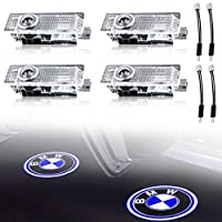 مصباح إضاءة ليد لباب السيارة KRADA لمصباح إضاءة ليد لسيارة BMW M 3 5 6 7 Z GT X Mini Series مجموعة أضواء بديلة من شعار كورتيسي (عبوة من 4 قطع)