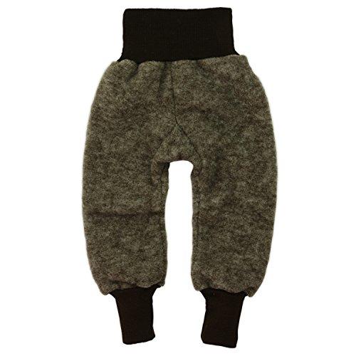 Cosilana Hose Woll-Fleece, Größe 86/92, Farbe Braun melange - Vertrieb nur durch Wollbody®