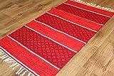 Trendcarpet Flickenteppich Groß - Visby (rot) 160 x 230 cm Größe 160 x 230 cm