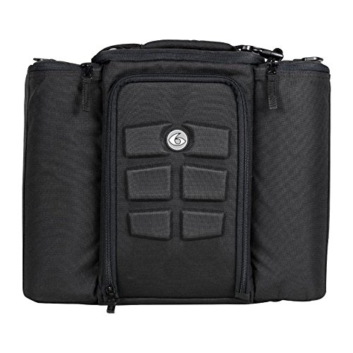 6 Pack Fitness Bag 5 Meal Management Innovator 500 - Black